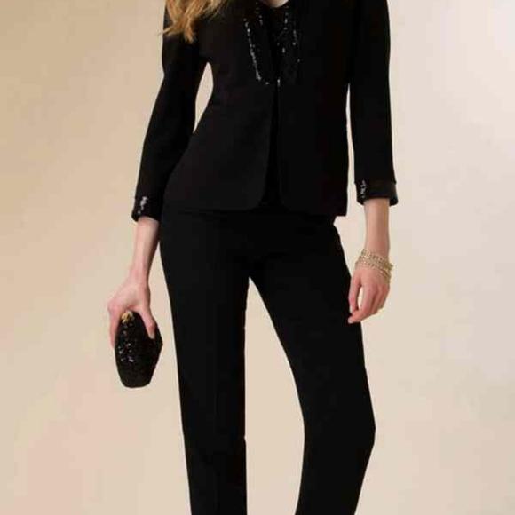 0b6ea87463 Vintage Jackets & Coats | Luisa Spagnoli Black Blazer Beaded M ...